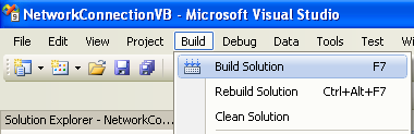 Collecting and Displaying the Network Info VB .NET Program Example: building the project