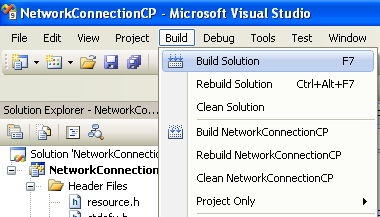 Collecting and Displaying the Network Info C++ Program Example: building the project