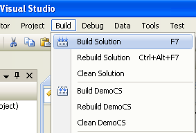 Creating the C# Demo Class Library (DLL): building the project