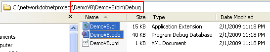 Creating the Server VB .NET Console Application: copying the generated DLL files