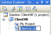 Creating the VB .NET Remoting Client Program: renaming the source file