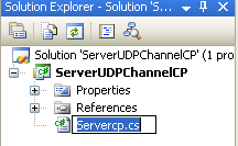 Creating the C# Remoting Server Program: renaming the C# source file to Servercp.cs