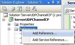 Creating the C# Remoting Server Program: invoking the Add Reference page again