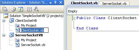 VB .NET Simple Server Socket Program Example - renaming the source file