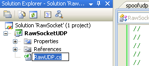 C# Raw UDP Socket Program Example - renaming the source file