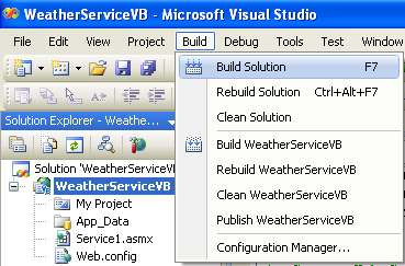 building the asp project using vidual studio 2008