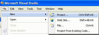 Creating a new C# and ASP project in VS 2008