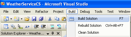 Building an ASP and C# project in Visual Studio 2008