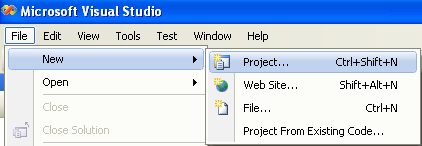 C# FileStream project example