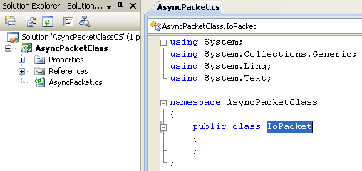 A Simple C# Asynchronous Class Example - renaming the first default class given
