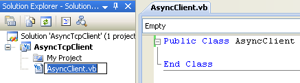 VB .NET Asynchronous Client Program Example - renaming the source file