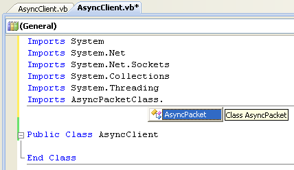 VB .NET Asynchronous Client Program Example - testing the custom made class
