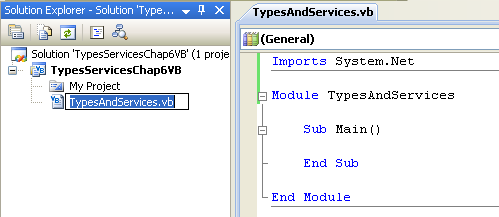 VB .NET Services and Types Program Example - renaming the source file