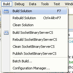 C# Program Example - building a project menu