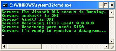 The UDP program example for Winsock 2, the Windows socket