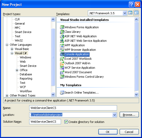 Creating and consuming the ASP .NET web service and C# console application program example: Adding the C# console application to the existing web service solution