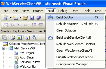 ASP .NET web service and VB .NET programming: Building the VB .NET console application which request the ASP .NET web service